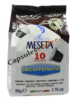 Кофе Meseta в капсулах Nespresso Deccaffeinated